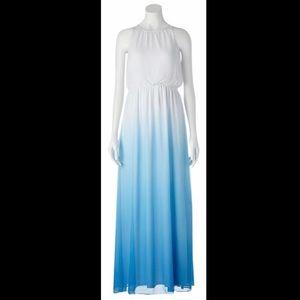 Gorgeous Dip-Dye Chiffon Maxi Dress
